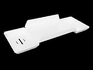 Lavish Life matt white soap caddy