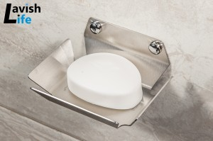 Wall mounted stainless steel soap dish