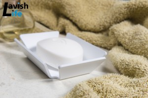 Matt white soap dish
